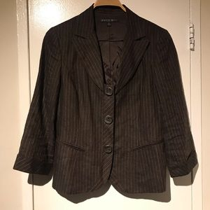 Lafayette 148 Brown Pinstripe Jacket